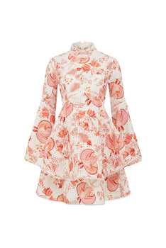 Thurley - Chintz Print Broderie Dress
