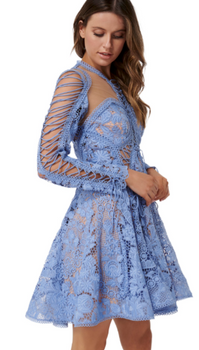 Thurley - Blue Bell Lace Dress