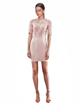 Yeojin Bae - Cornelli Lace Casey Dress - Pink