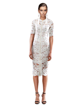 Yeojin Bae - Cornelli Lace Phoebe Dress - Cream