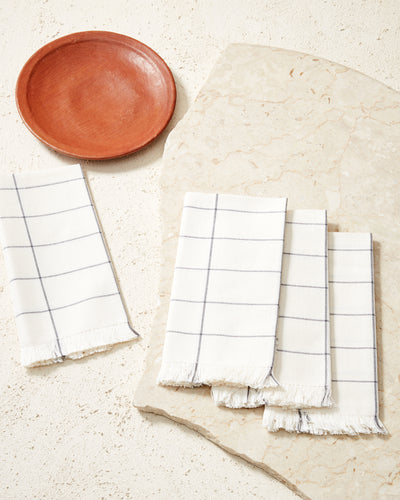 Grid Napkin - Cream