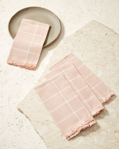 Grid Napkin - Peach