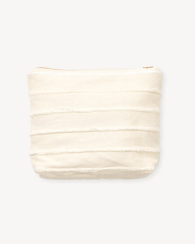 Recycled Stripe Pouch - Cream