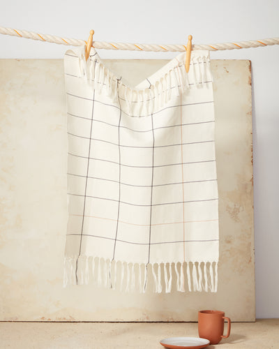 Grid Towel - Cream