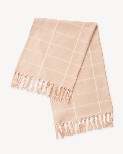 Grid Towel - Peach