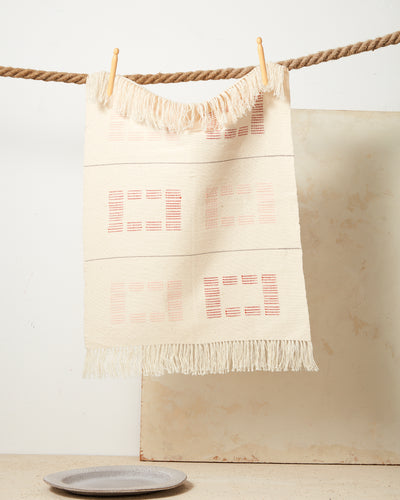 Blocks Towel - Rust