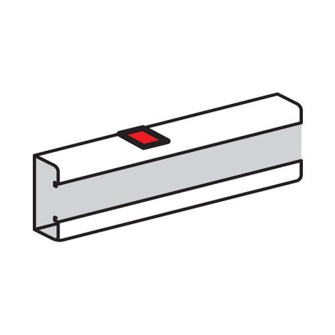 Stick-On Body Joint for Snap-On Trunking - White