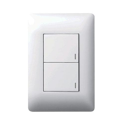 2 Lever Switch - White