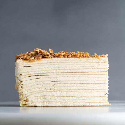 "Almond Salted Caramel Mille Crepe 9"" - Mille Crepe - Food Foundry - - - - Eat Cake Today - Birthday Cake Delivery - KL/PJ/Malaysia"