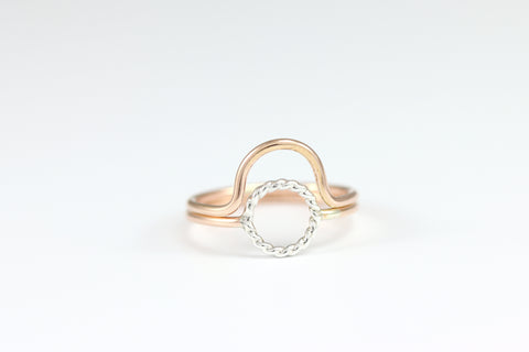 Circle Ring Set of 2