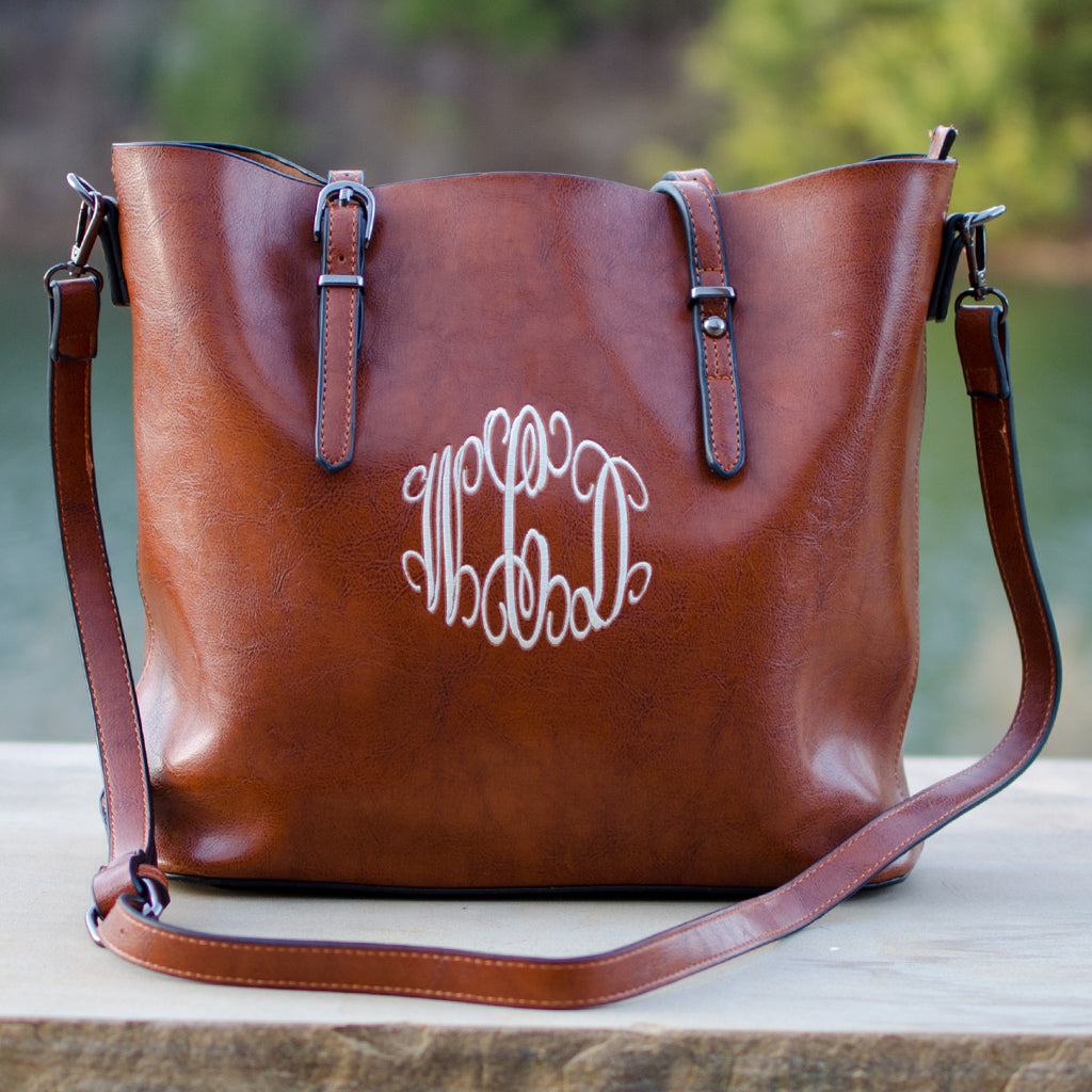 Monogrammed Leather Handbags | Designer Inspired