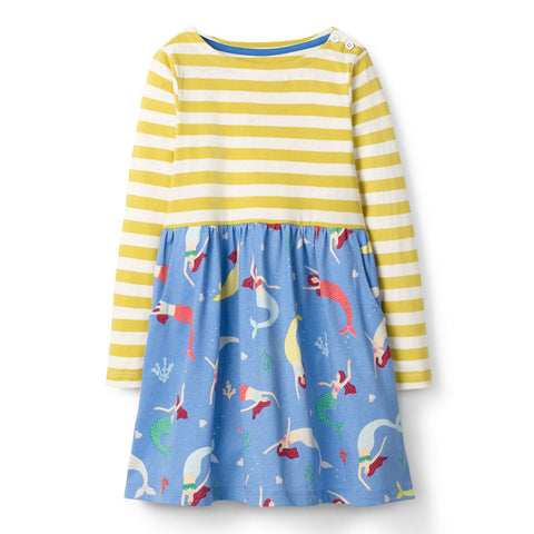 Bambinilooks-Bambini-Kidslooks-Kids-Girls-Dress-Long-Sleeve-Striped-Mermaid