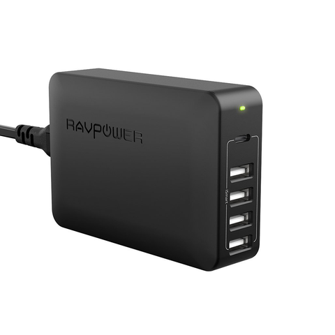 RAVPower 60W 5-Port USB C PD Port USB Charger