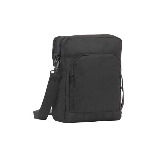 This promotional bag can be branded with a 1 colour print to the front. This business bag is made from 900d polyester and features an adjustable shoulder strap with metal fittings. This bag also has external and internal compartments with zipped closures