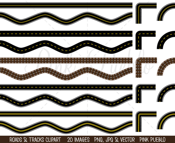 Road and Track Clipart and Vectors - PinkPueblo