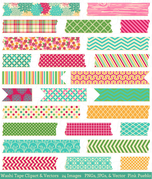 Washi Tape Clipart & Vectors