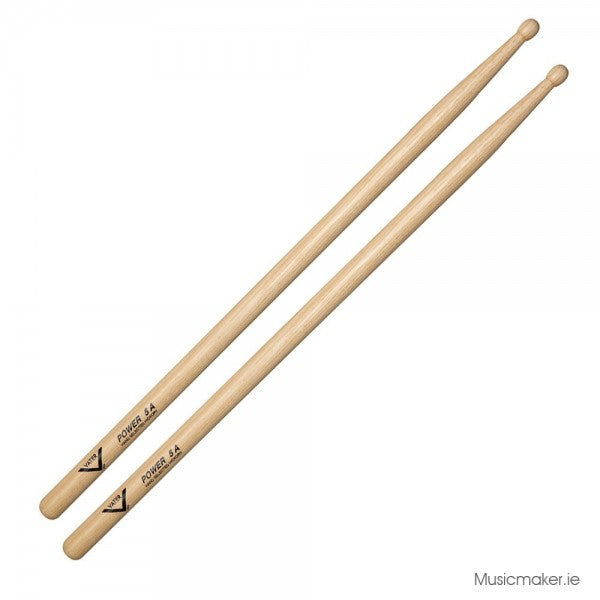 VHP5AW Vater Hickory Power 5A Wood Tip Drum Sticks