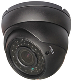 "1/3"" Color Vandal Proof Dome Camera - BLACK"