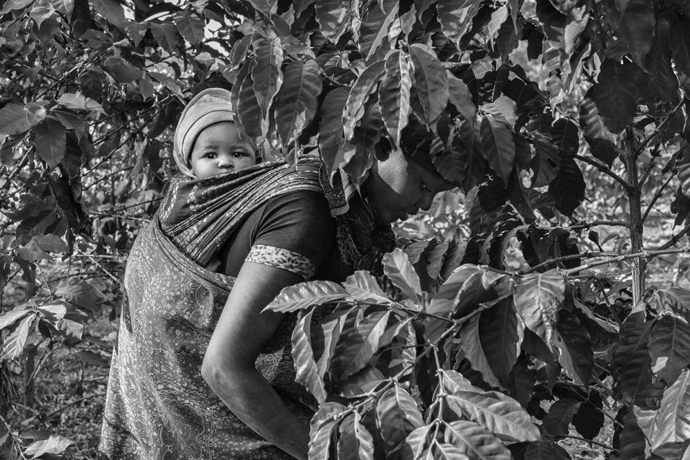 Jakob de Boer - Mother and Child, Tanzania, Selenium toned, silver gelatin print, unframed,  - Bau-Xi Gallery