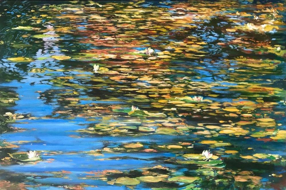 Ken Wallace - Mallory Pool 2, Acrylic on Canvas, Unframed,  - Bau-Xi Gallery