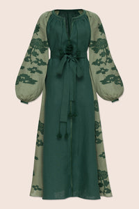 Laila Maxi Dress in Green