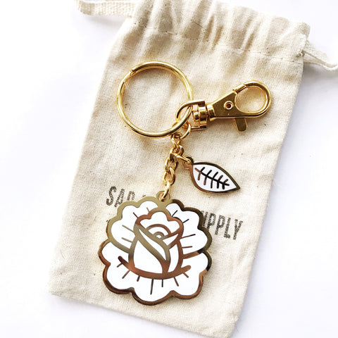 Rose Petal Keychain & Purse Charm, , - Sad Truth Supply - Enamel Pins