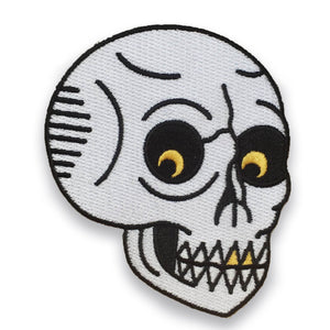 Menacing Skull Patch, Patch, - Sad Truth Supply - Enamel Pins