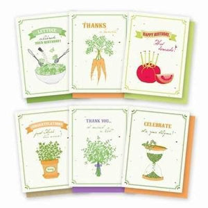 Gourmet Garden Plantable Greeting Cards - 6 Pack - Fine Gifts La Bella Basket Company