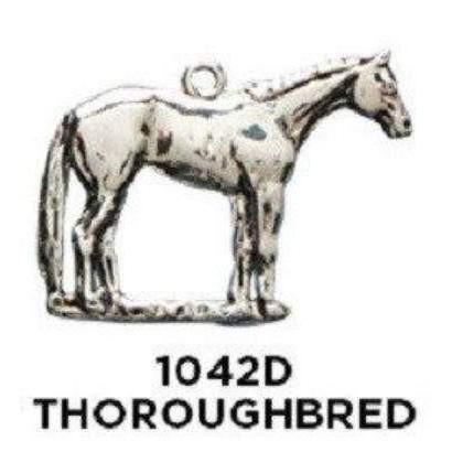 Thoroughbred Horse Charm - Sterling Silver - Fine Gifts La Bella Basket Company
