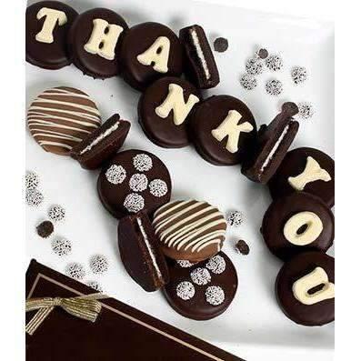 THANK YOU Belgian Chocolate Covered OREO® Cookies - Fine Gifts La Bella Basket Company
