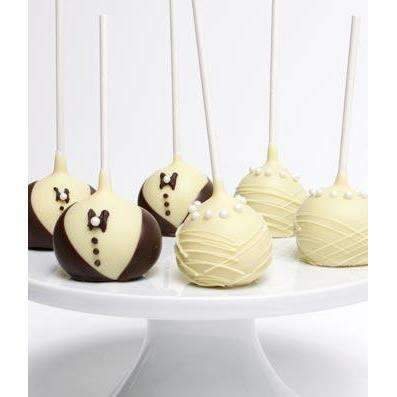 Bride and Groom Cake Pops - Ten - Fine Gifts La Bella Basket Company