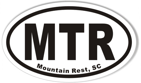 MTR Mountain Rest, SC Oval Bumper Stickers