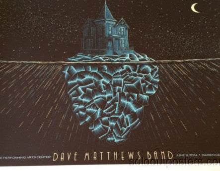 Dave Matthews Band - 2014 Todd Slater poster print Darien Center New York