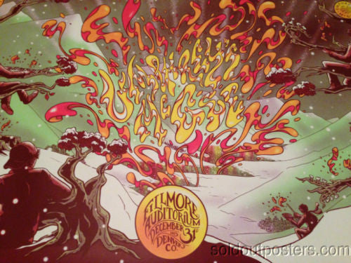 Umphrey's McGee -  2013 James Flames poster print Denver, CO Fillmore Auditorium