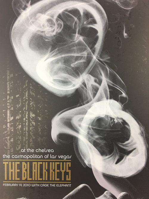 The Black Keys - 2011 Todd Slater Poster Las Vegas, NV The Chelsea Feb. 19th