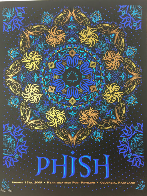 Phish - 2009 Todd Slater Poster Columbia, MD Merriweather Post Pavilion