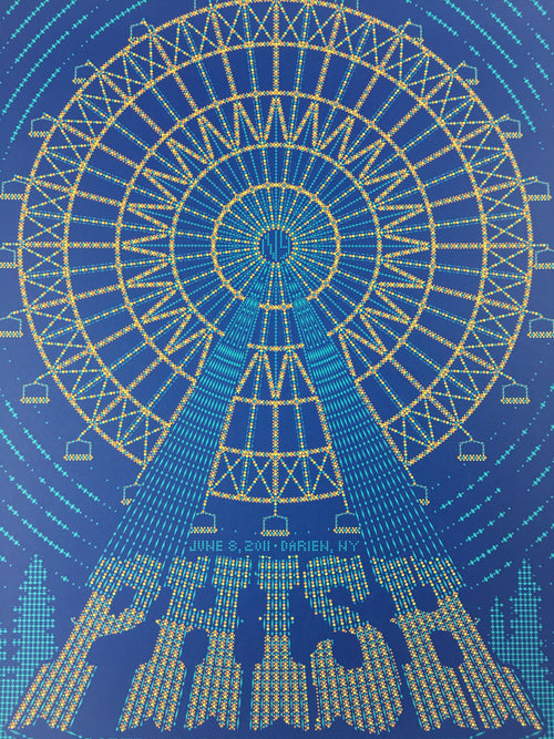 Phish - 2011 Todd Slater Poster Darien, NY Darien Lake Performing Arts Center