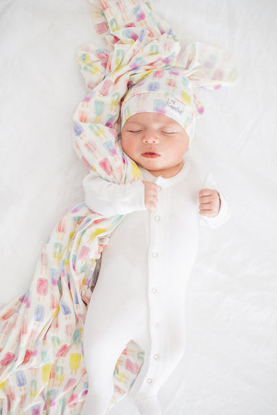 Knit Swaddle Blanket - Summer