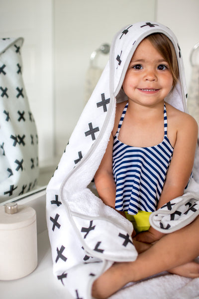 Muslin Hooded Towel - Swiss