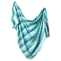 Knit Swaddle Blanket - Waves
