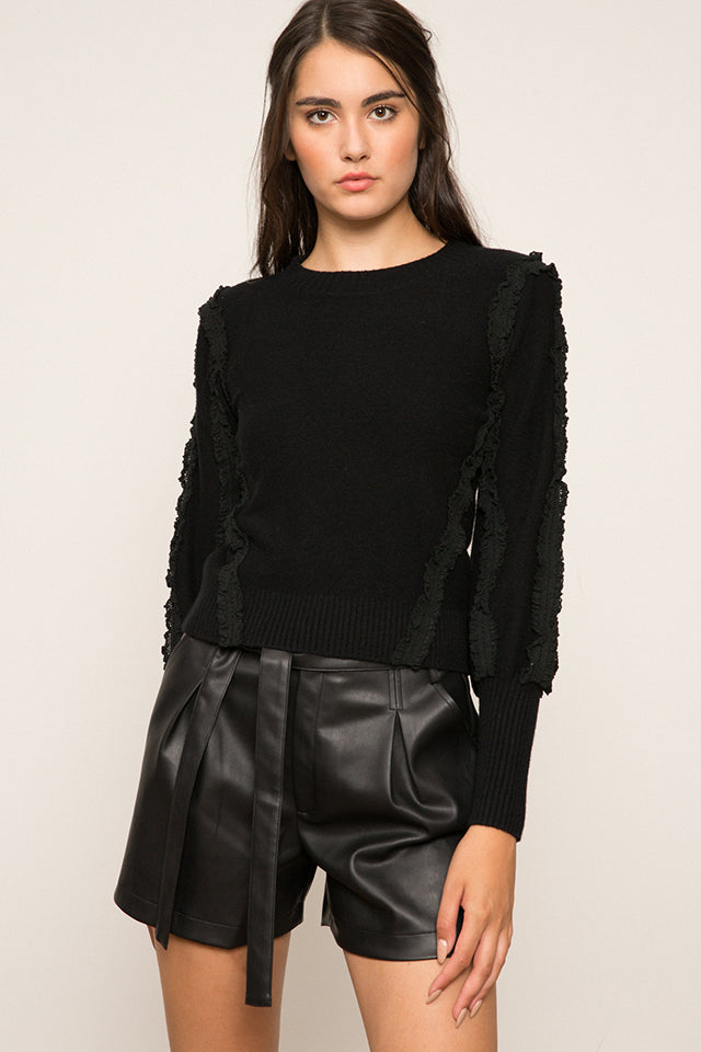 Rachel Ruffle Sleeve Sweater