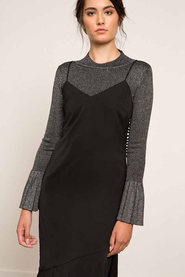 Lucy Paris- Mallory Pleated Sleeve Sweater