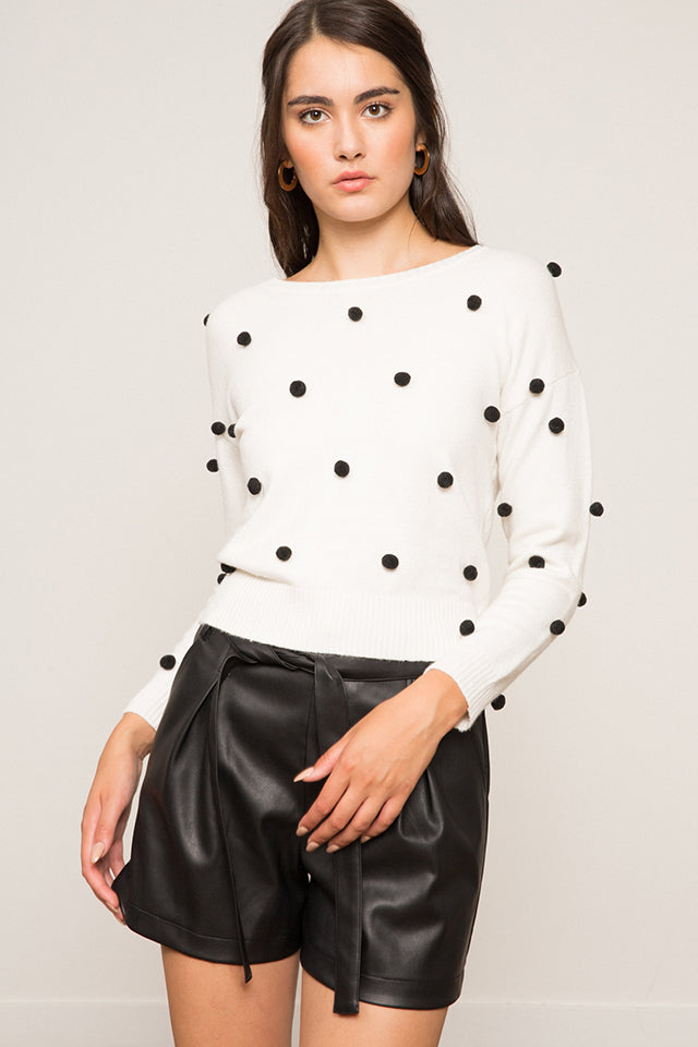 Lucy Paris- Nash Embellished Sweater