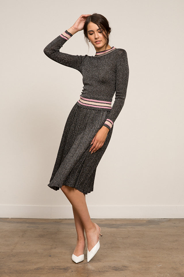 Lucy Paris - Nicole Ribbed Knit Skirt