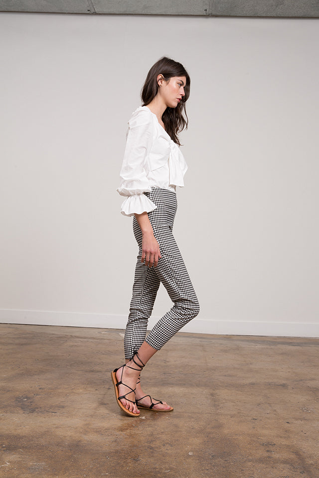 Madeline Gingham Stretch Pant