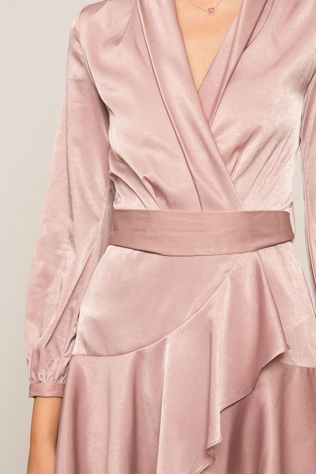 Sienna Silk Wrap Dress