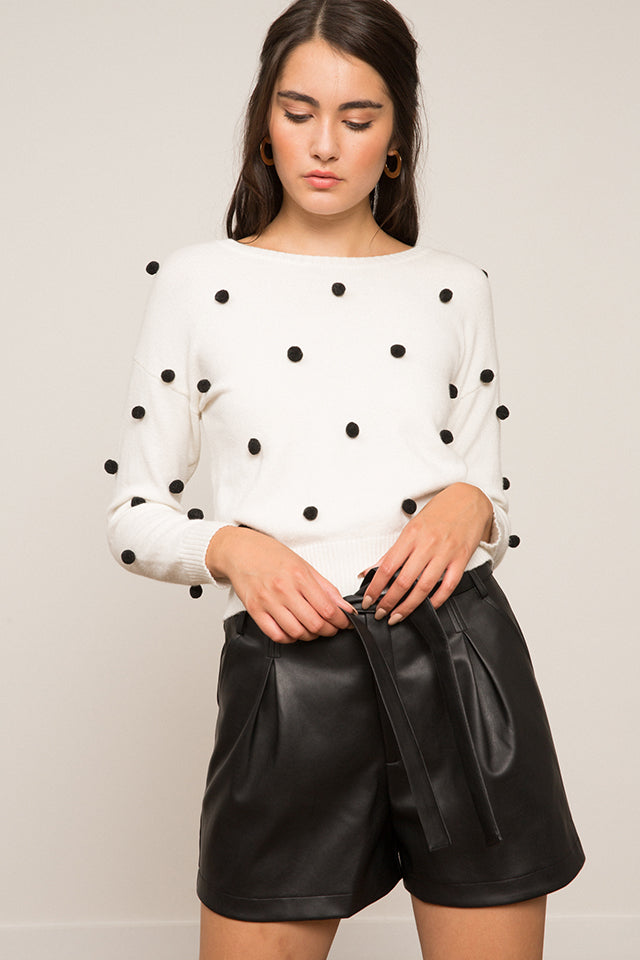 Nashya Puff Embellished Sweater