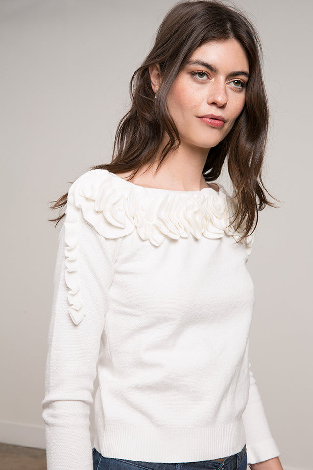 Maria Ruffle Sweater