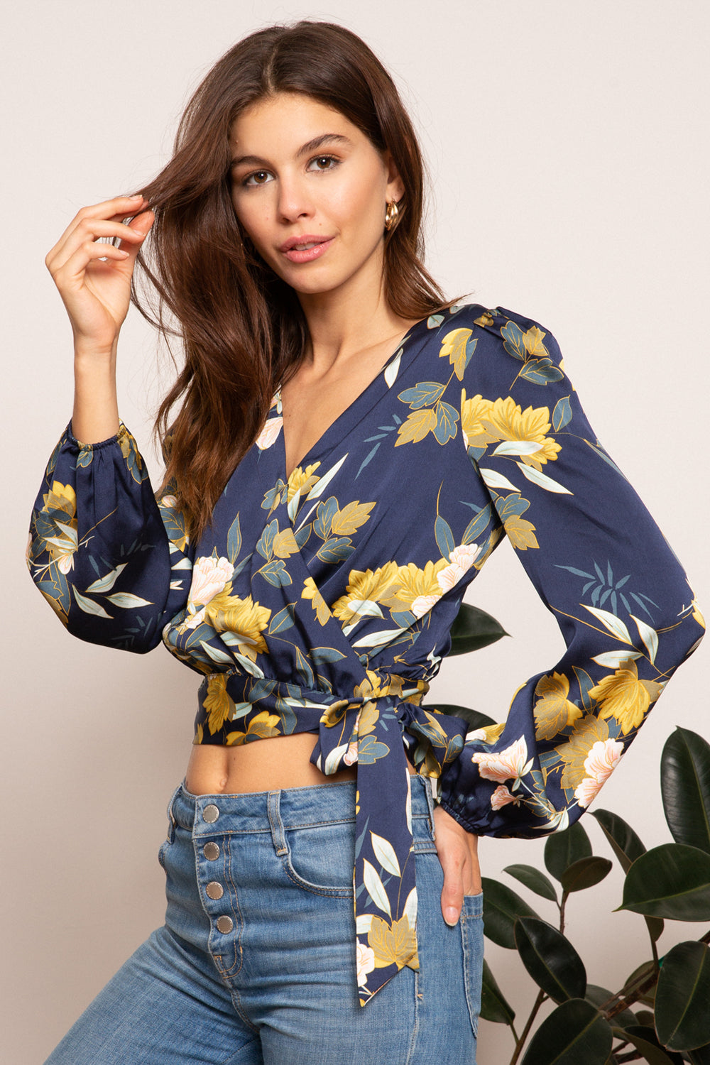 LUCY PARIS - Celine Wrap Top