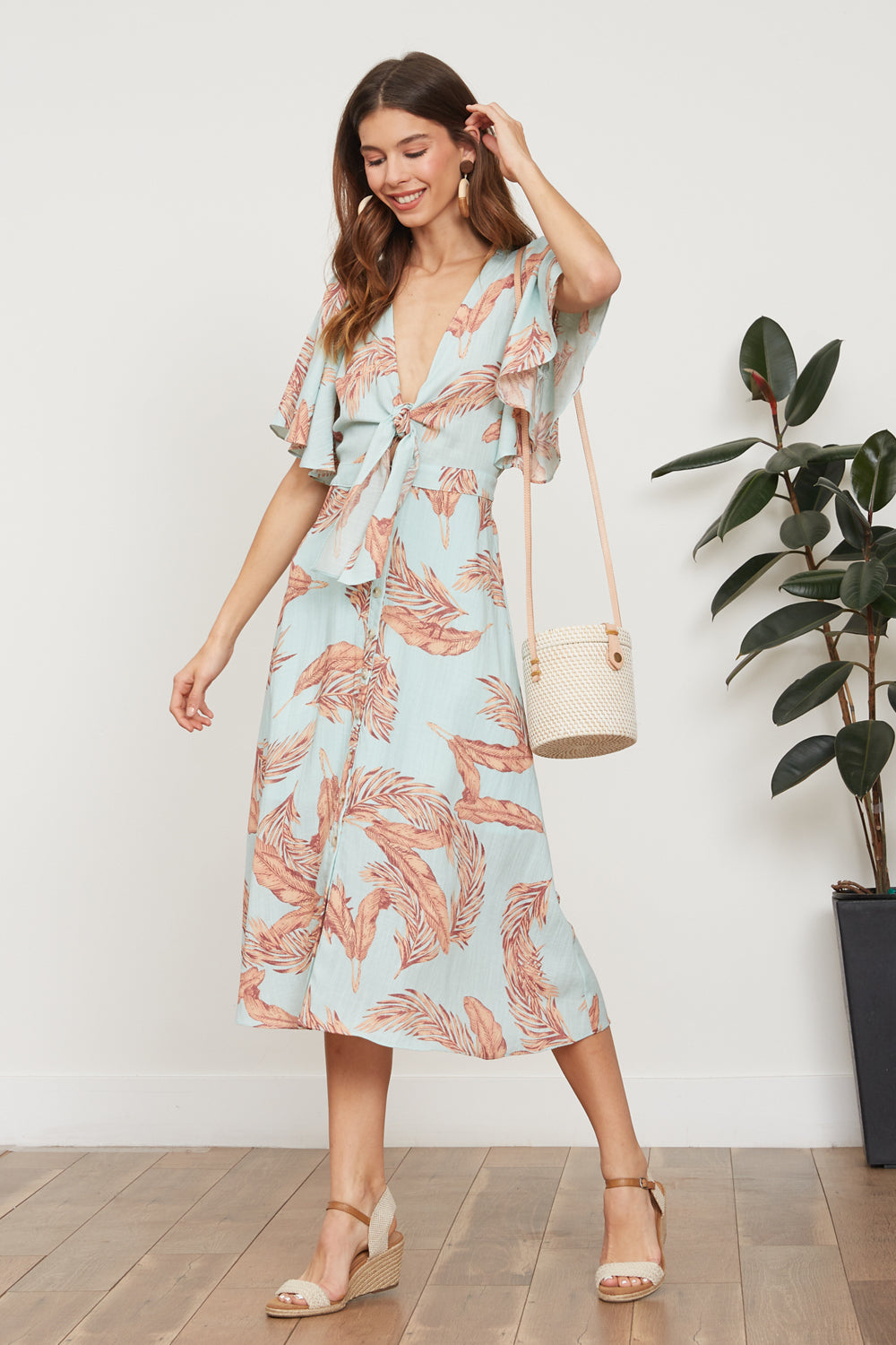 Lucy Paris - Maya Floral Tie Dress